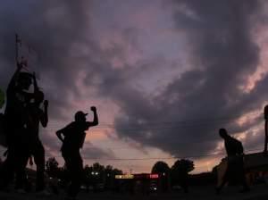 Protests on Monday, Aug. 18 in Ferguson, Mo