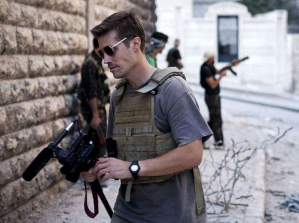 James Foley in Aleppo, Syria, in 2012.