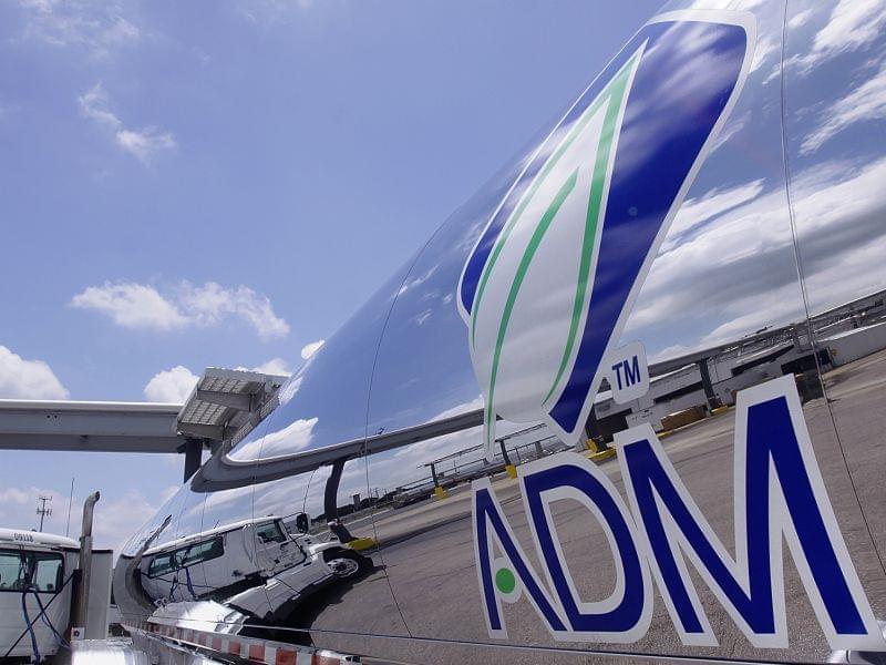 ADM logo on tanker truck in July 2009.