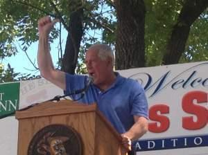 Gov. Pat Quinn at the Illinois State Fair Aug. 13.