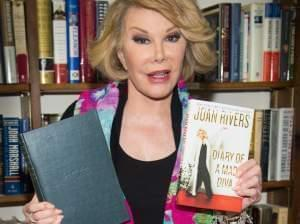 Comedian Joan Rivers promoting her memoir on July 25th in New York.