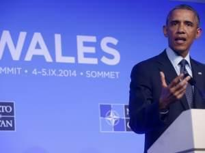 President Obama speaks at NATO Summit Friday in Wales.