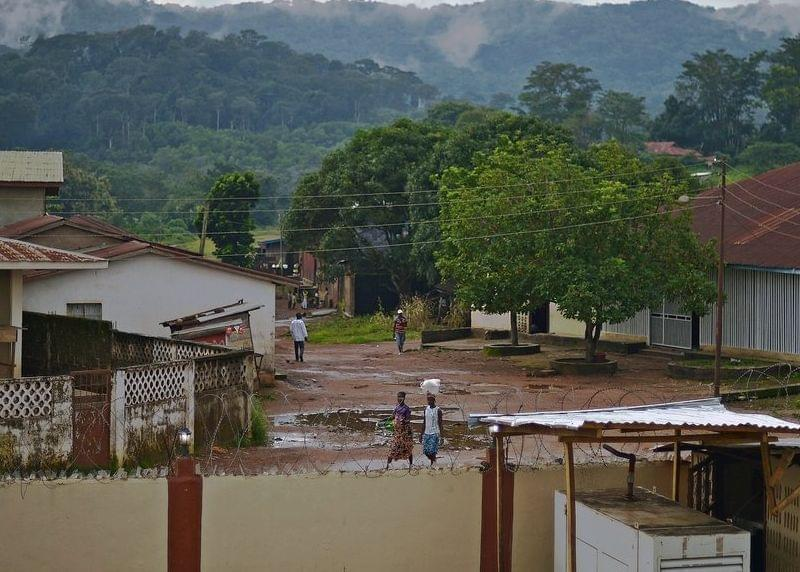 People walk in Kenema, a part of Sierra Leone hit hard by Ebola.