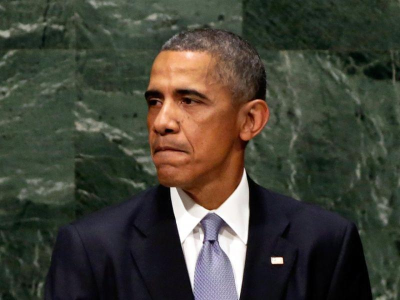 President Obama addresses the U.N. General Assembly in New York Wednesday.