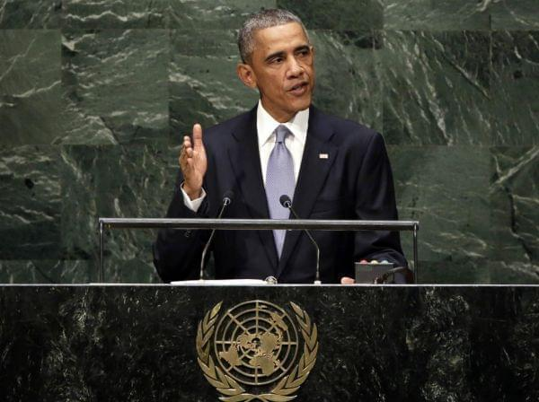 President Obama addresses the U.N. General Assembly Wednesday.