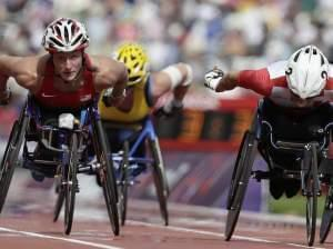 University of Illinois graduate Tatyana McFadden competing in the 2012 Paralympic games.