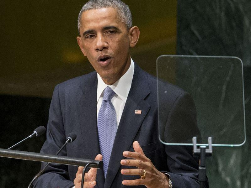 President Barack Obama addresses the United Nations General Assembly at the United Nations headquarters Wednesday.