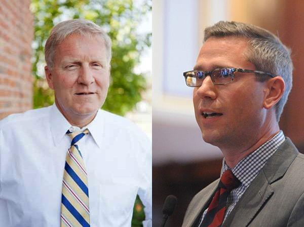 State Rep. Tom Cross of Oswego, Champaign Democratic Senator Mike Frerichs
