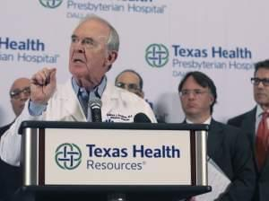 Dr. Edward Goodman at Texas Health Presbyterian Hospital Dallas, speaks about the nature and treatment of the Ebola virus.