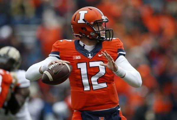 Illinois Quarterback Wes Lunt during a Saturday home loss to Purdue