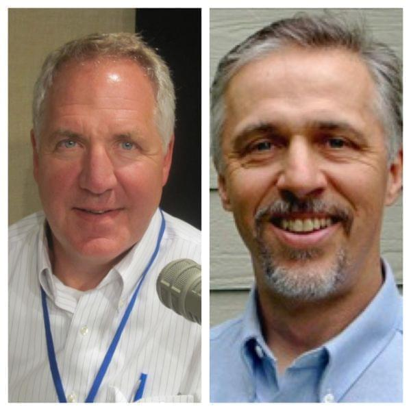Rep. John Shimkus (R-IL) and Champaign County Zoning Board of Appeals Chairman Eric Thorsland (D)