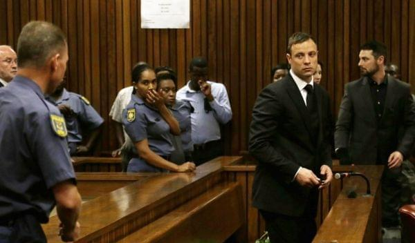 South African track star Oscar Pistorius is sentenced to five years in prison.