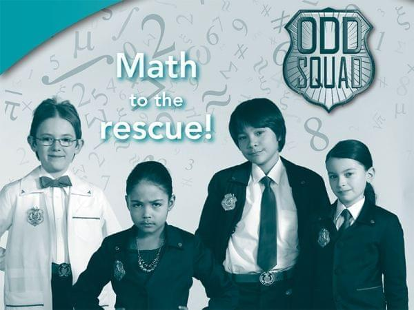 Photo of 4 kids from math program called Odd Squad