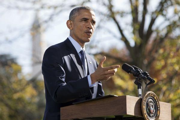 President Barack Obama speaks to the media about Ebola Tuesday on the White House lawn