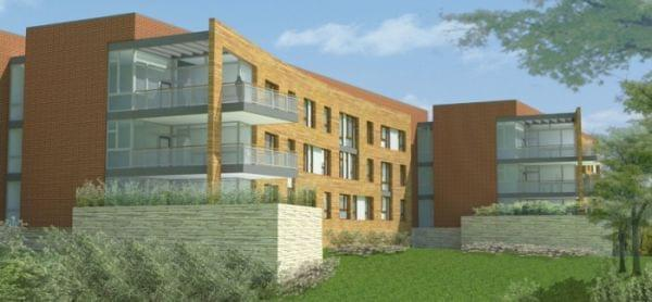 Drawing of future affordable housing for veterans in Danville, IL