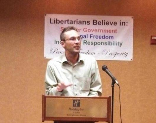 Libertarian gubernatorial candidate Chad Grimm.