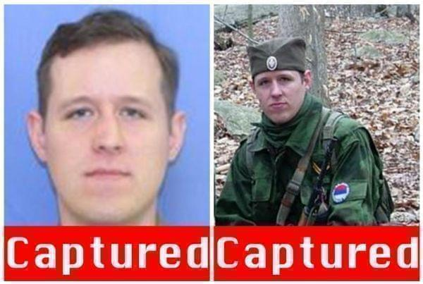 Undated photos of survivalist Eric Frein.