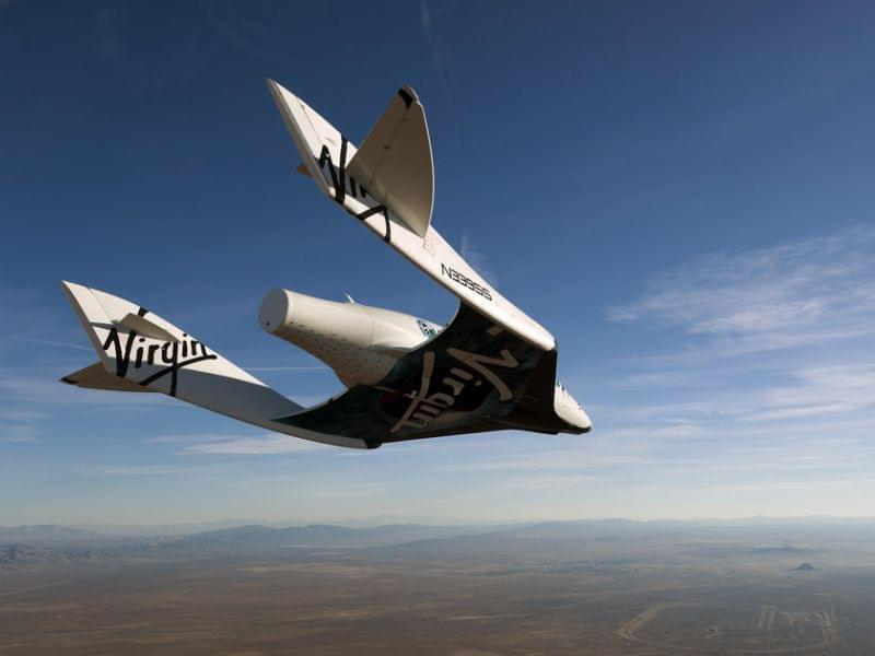 Commercial spaceship pictured in earlier test flight.