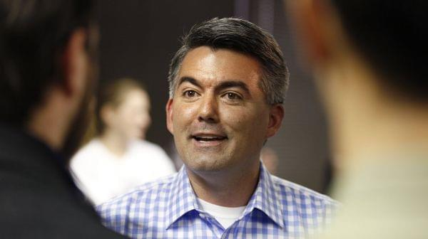 Senate Candidate Cory Gardner at a campaign office in Colorado
