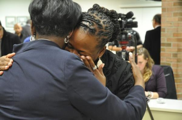 Democrat Carol Ammons gets emotional after winning the race for the 103rd House Seat.