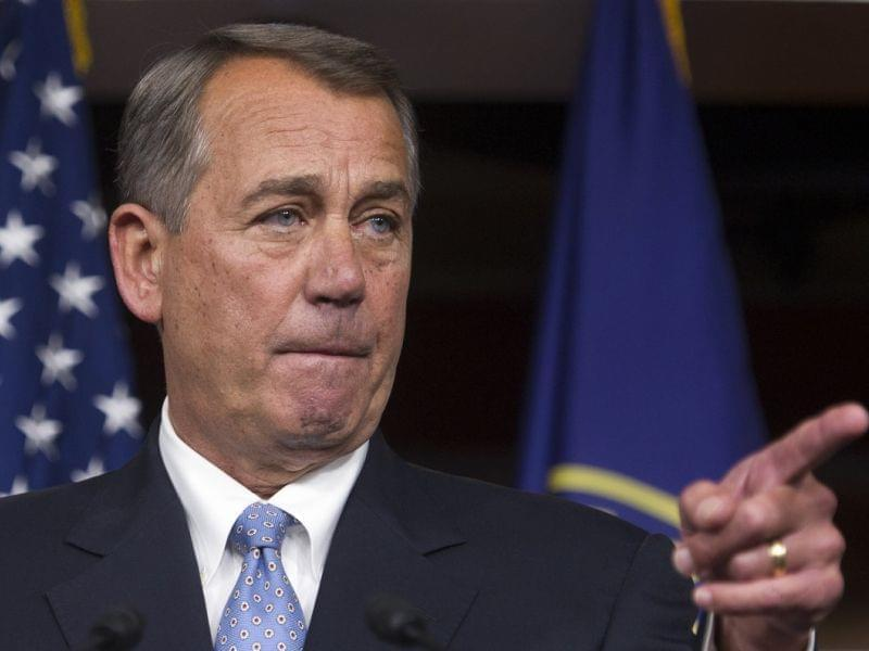 House Speaker John Boehner at a press conference Thursday.