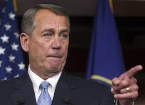 House Speaker John Boehner at a press conference Thursday.