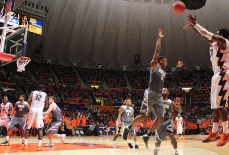 Aaron Crosby's 3 pointer late helped secure the win for Illinois.