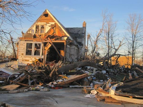 A home destroyed by the November 2013 tornado in Gifford.
