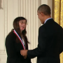 U of I entomology professor May Berenbaum, honored by President Obama Thursday.