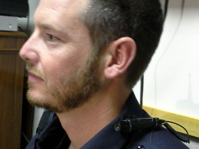 Rantoul police Sgt. Marcus Beach wears a body-cam on his collar.