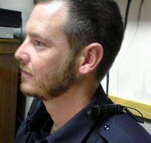 Rantoul police Sgt. Marcus Beach wears a body-cam on his collar.