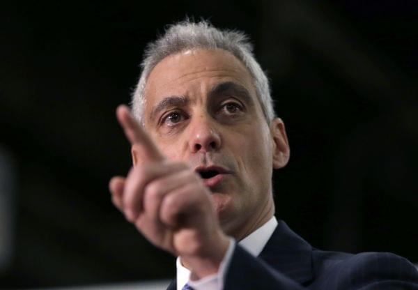 Chicago Mayor Rahm Emanuel talks about future plans for a maintenance facility.