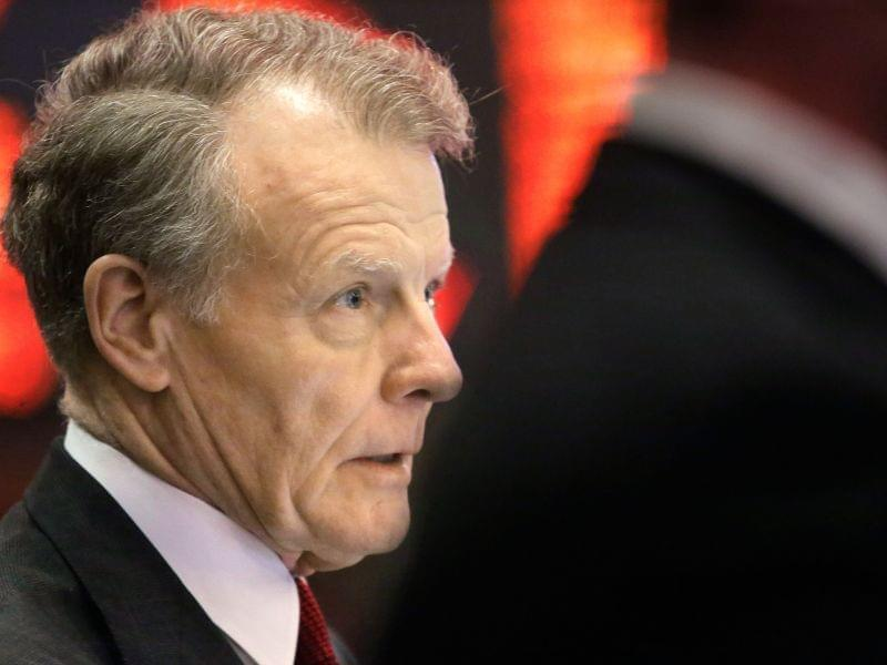Democratic House Speaker Michael Madigan listens to lawmakers debate while on the House floor Wednesday.
