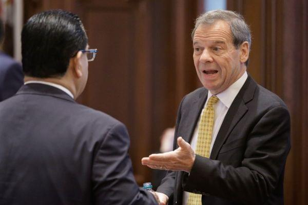 Illinois Senate President John Cullerton on Senate floor Thursday.
