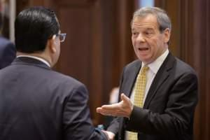 Illinois Senate President John Cullerton on Senate floor Thursday.