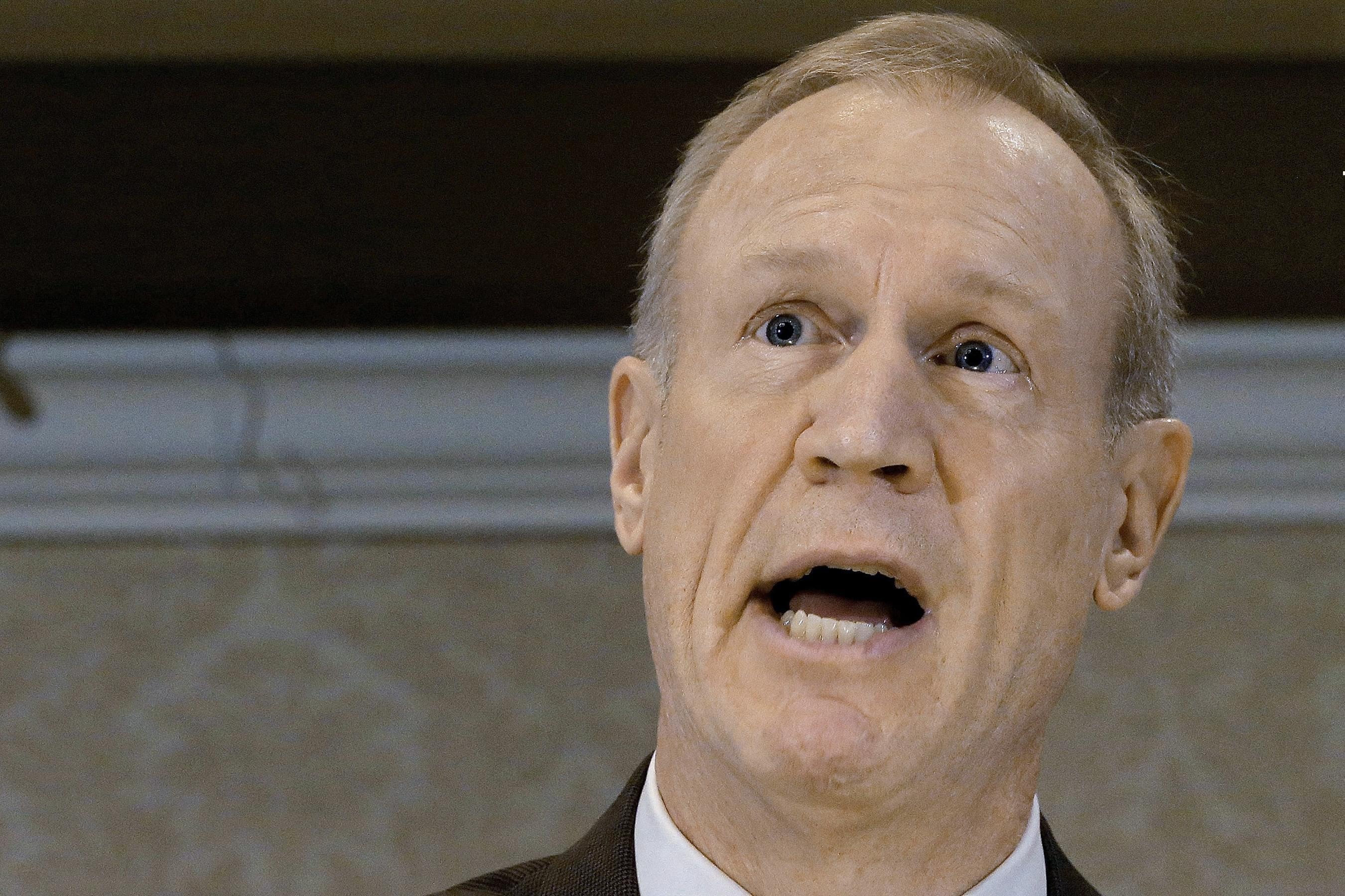 Republican Governor-elect Bruce Rauner speaks during a luncheon in Springfield Tuesday.