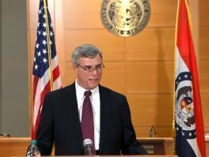 St. Louis County Prosecutor Robert McCulloch announces the grand jury's decision on November 24.
