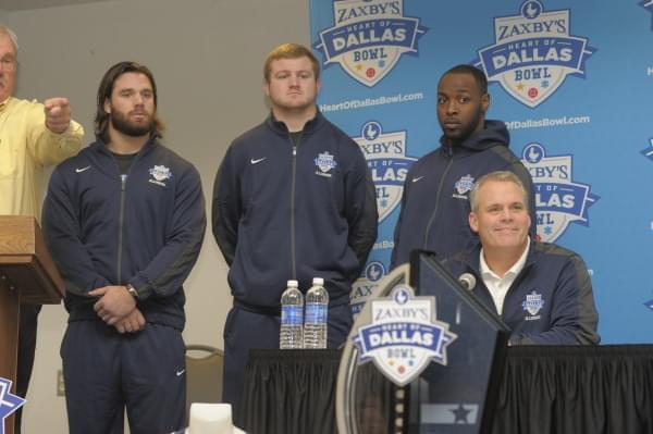 Illini players and Coach Tim Beckman in Tuesday press conference.
