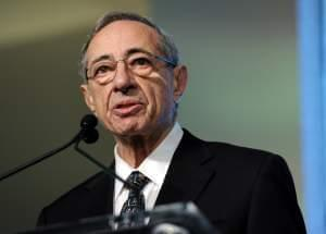 2011 file photo of former New York Governor Mario Cuomo speaking at Game Changers Awards