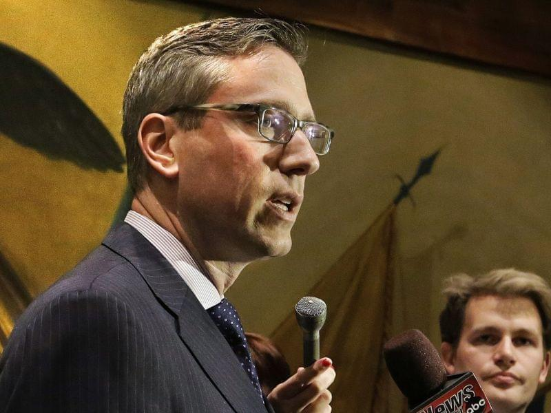State Senator and Treasurer-elect Mike Frerichs speaks in Springfield last May.