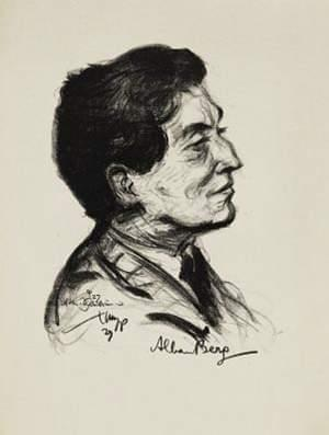 a portrait of Alban Berg