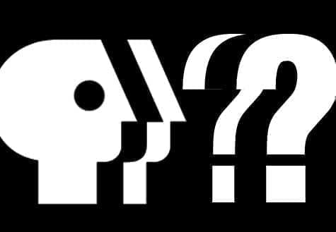 PBS logo with question marks