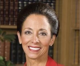 Bradley University President Joanne Glasser, who's stepping down May 31.