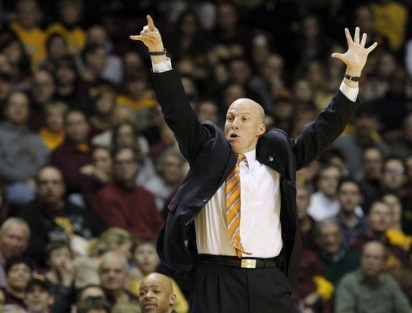 Illini Head Coach John Groce during Saturday's loss