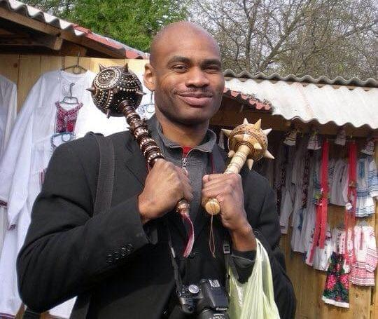 Terrell Starr in the Iviv region of Ukraine