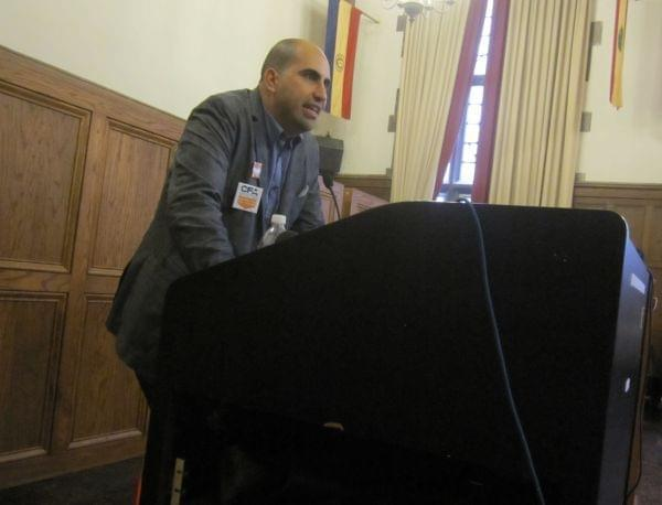 Steven Salaita during his appearance at the University YMCA on September 9, 2014.
