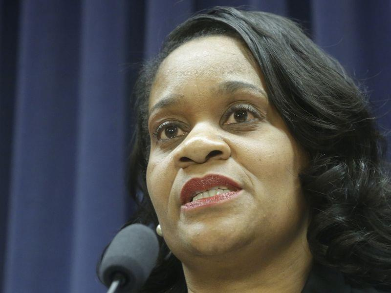 Tuesday photo of Illinois Senator Kimberly Lightford, a Democrat from Maywood.