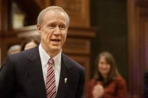 Governor Bruce Rauner before Wednesday's State of the State address.