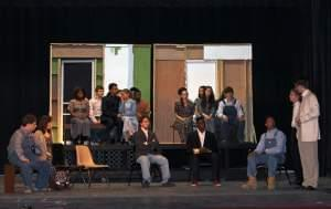 cast of To Kill A Mockingbird on stage