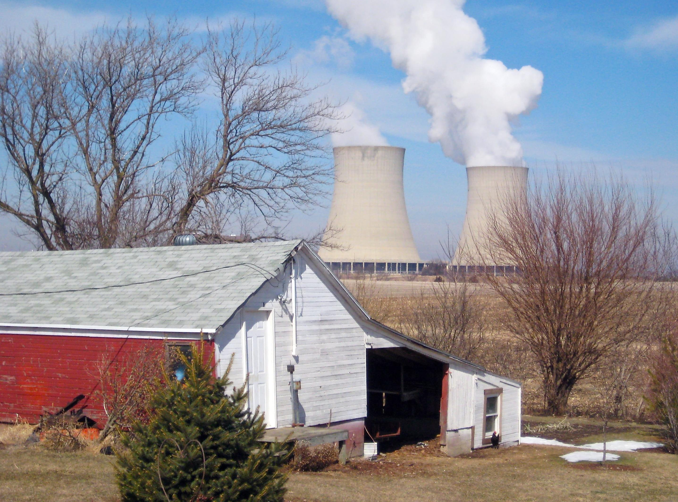 In this March 16, 2011 file photo, steam escapes from Exelon Corp.'s nuclear plant in Byron, Illinois.
